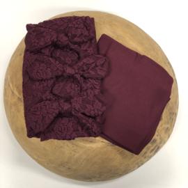 Bundle of Love Wrap & BOW option - Bordeaux lace