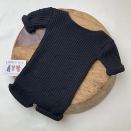 Newborn Onesie Knitted - Black