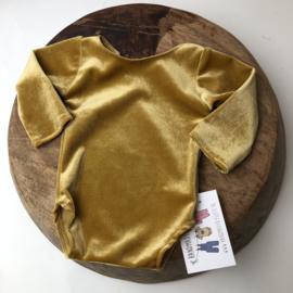 Newborn Romper velvet - Gold