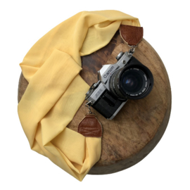 Camera Strap - Yellow - Camel leather