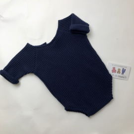 Romper Knitted Collection  - blue- Size 80