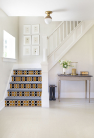 Stairs stickers MOSAIC brown/yellow