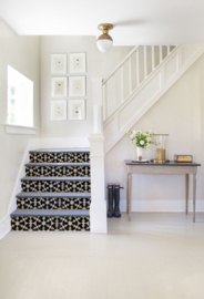 Stairs Stickers MOSAIC black/yellow