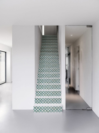 Stair sticker MOSAIC green