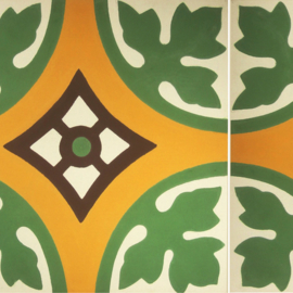 Stair sticker AZULEJO green ochre