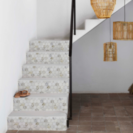 Stair sticker MARBLE HEXAGON
