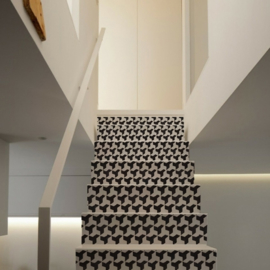Stair sticker MOSAIC black