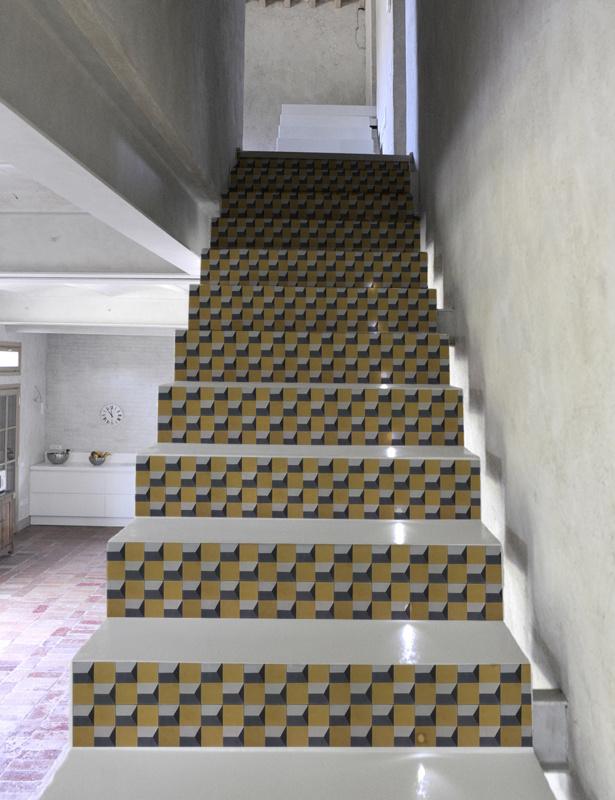 Stair Sticker YELLOW BLOCK