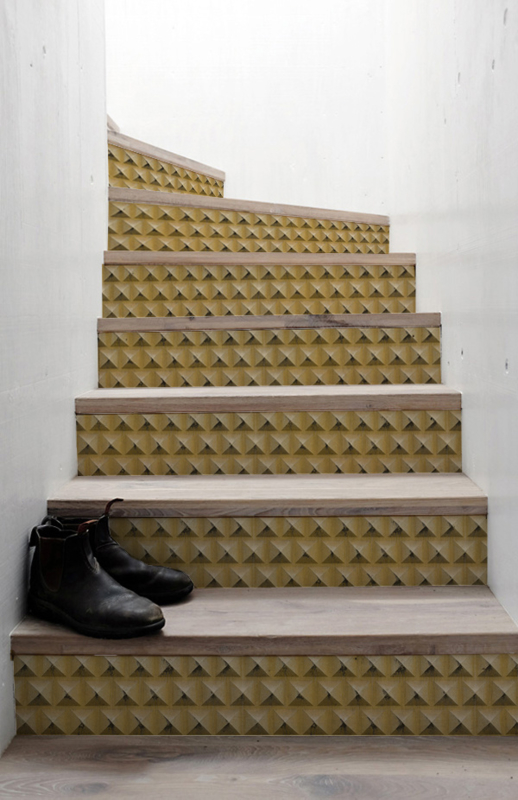 Stair Stickers GOLD PYRAMIDS