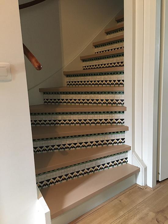 stairs sticker mosaic small boho