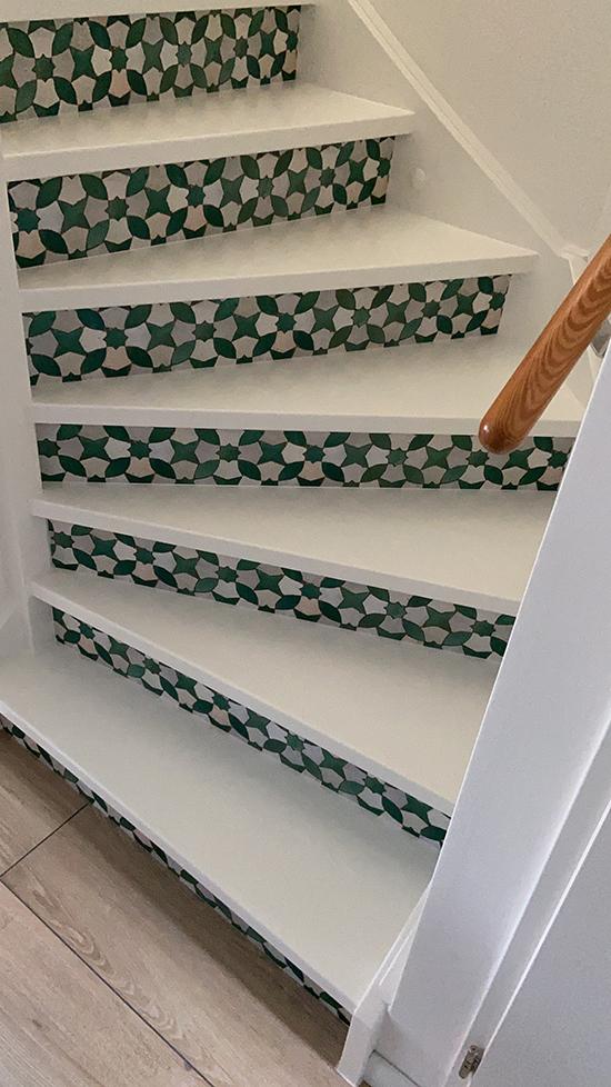 mosaic green stairs sticker