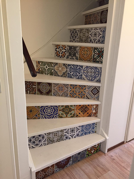 tile mix stairs sticker