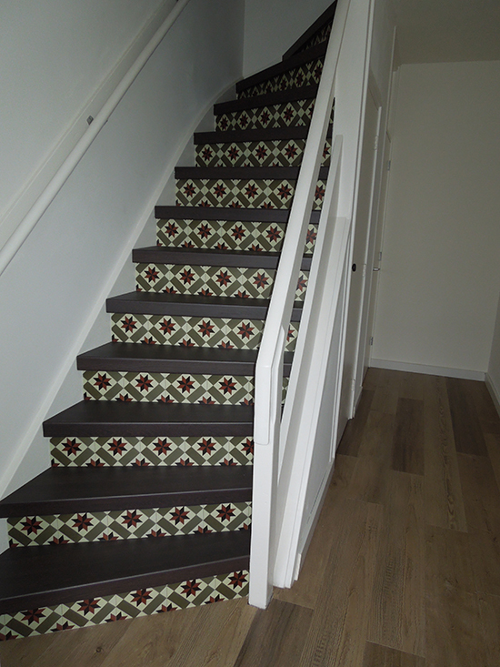 stairs stickers cement tile