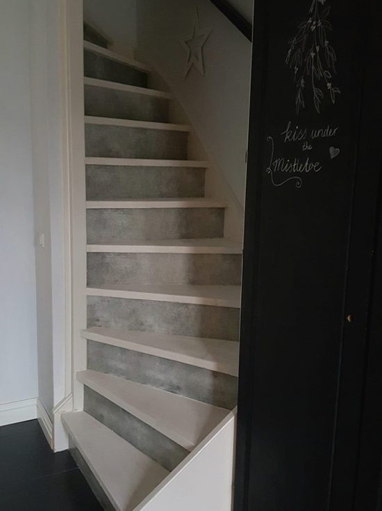 happy customer stairs decals steel industrial