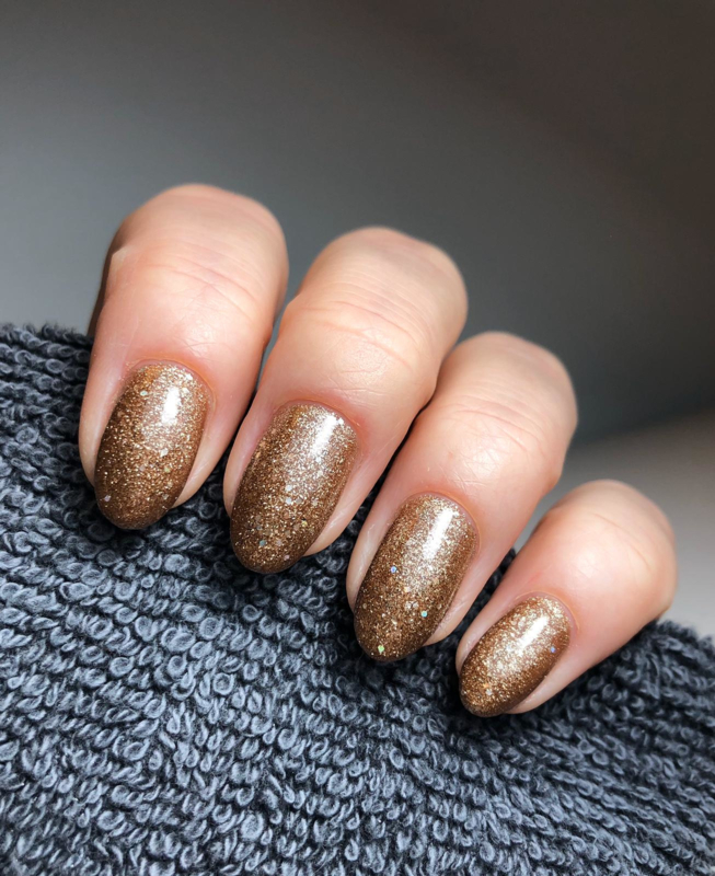 "Virgin Nails Gelpolish ""Bronze Sparkle"""
