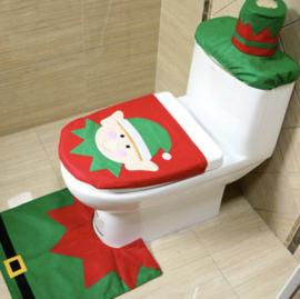Kerst Toilet Set - 3 Delig