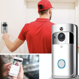 Draadloze Wifi Deurbel met Camera & Microfoon