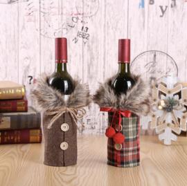 Wijnflessen Winter Covers ( SET 2 STUKS )