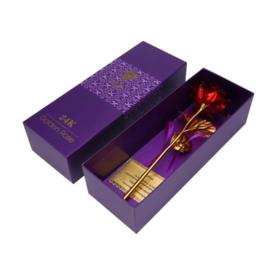 Gouden Roos (24 Kr) met Certificaat + Luxe doos