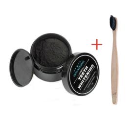 Natural Teeth Whitening Poeder + GRATIS Bamboe Tandenborstel