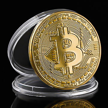 Bitcoin 24-karaats  Vergulde Token - (Limited Edition)