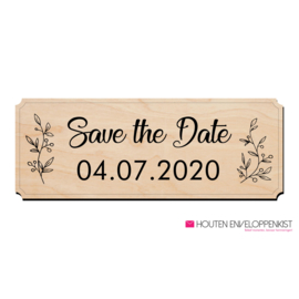 Houten Bord Save the Date