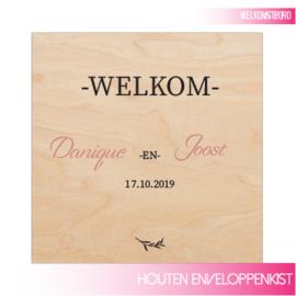 Houten Welkomstbord