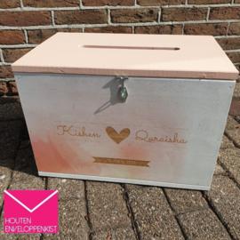 Watercolor pastel Memory Box