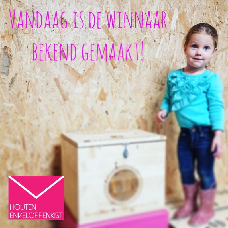 Win kist voor Houten Enveloppenkist