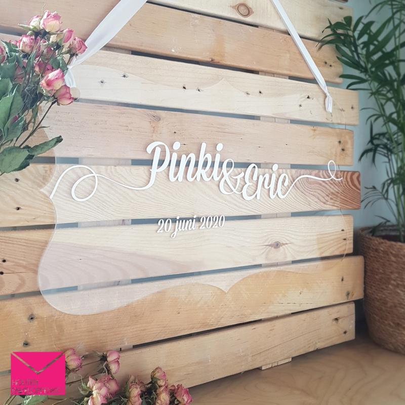 Welkomstbord bruiloft - lovely