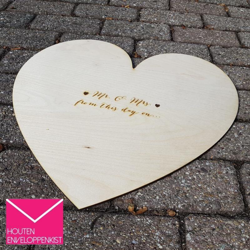 Houten Gastenboek hart