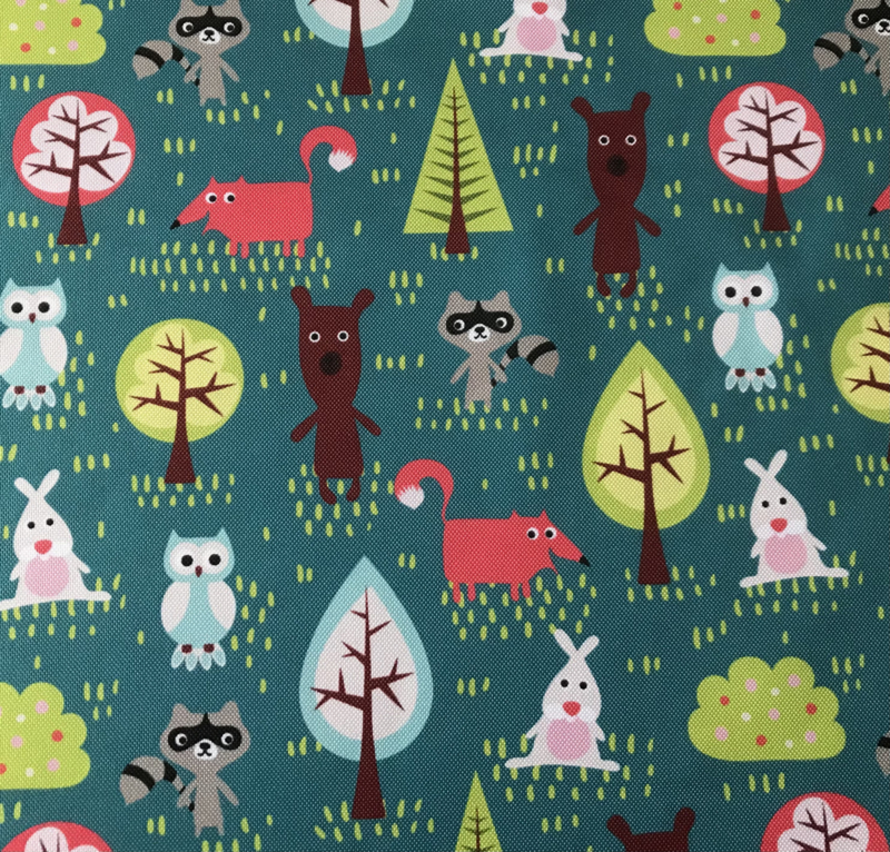Trees and animals turquoise