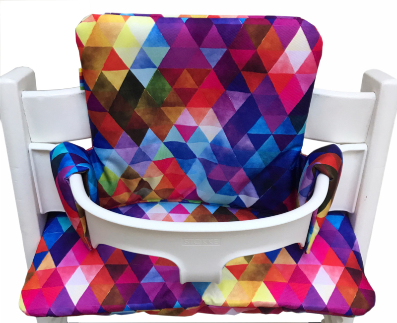 Kussenset - Driehoekjes regenboog