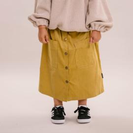 Maxi skirt - Rib olive