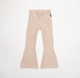 Flare pants - Big rib sand