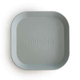 Mushie borden set 2 stuks - Sage