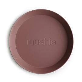 Mushie borden set 2 stuks - Woodchuck