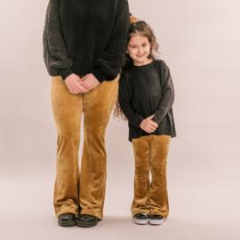 Flare pants - Velvet gold
