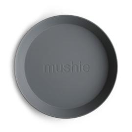 Mushie borden set 2 stuks - Smoke