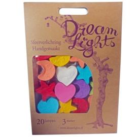DreamLights, lichtsnoer maan,hart,ster Multicolour SC-20