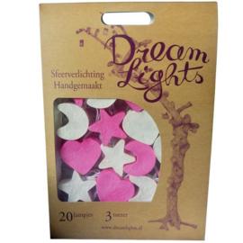 Dreamlights, Moon, star & heart - Girl ( pink ) SG-20