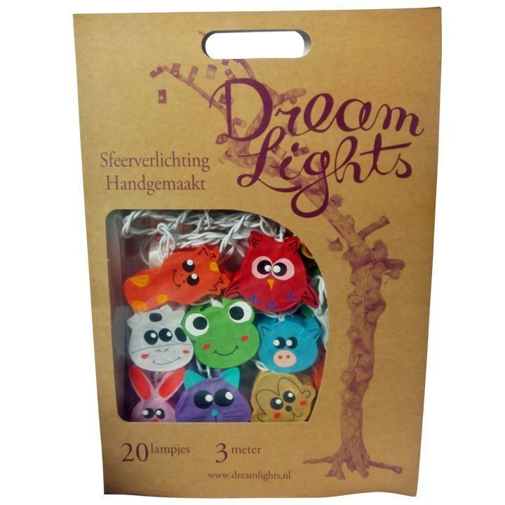DreamLights, lichtsnoer Dieren gezichtjes SA-20