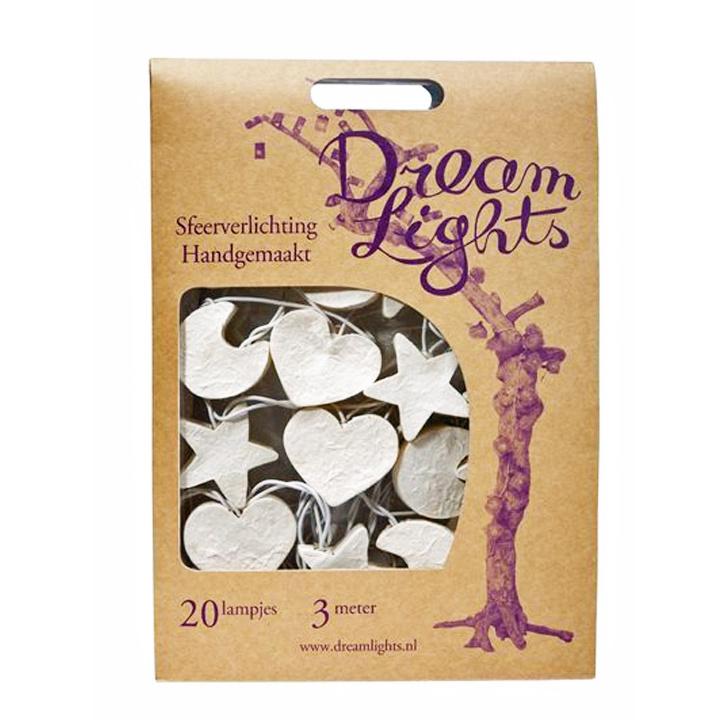 DreamLights lichtsnoer Maan, hart, ster WIT SW-20