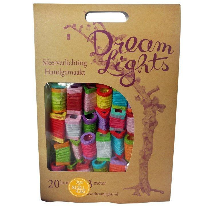 DreamLights ,lichtsnoer lampionnetjes XL original multicolour SL-35