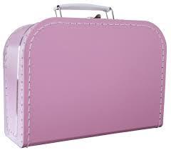 Koffertje 25cm - Felroze
