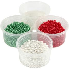 Pearl Clay®, 3x25 gr, 38 gr, wit, groen, rood, 1set
