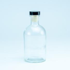 Luxe fles Transparant met kleur dop naar keuze - 250 Ml