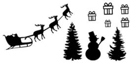 Statische raamfolie - uitbreiding sint + kerst
