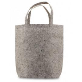 Vilten tote bag - grijs