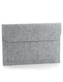 Vilten laptop/document hoes - grijs